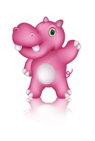 hipopotamo caricatura: lindo hipop�tamo posando