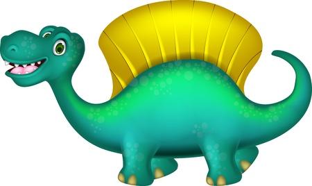 jurassic: cute Spinosaurus cartoon
