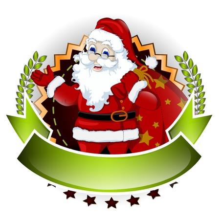 degraded: santa claus cartoon for you design Illustration