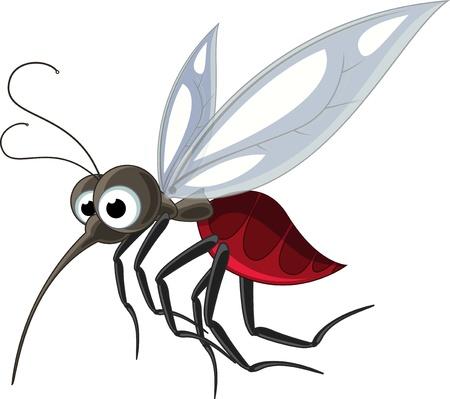 moscerino: zanzara cartoon per la progettazione Vettoriali