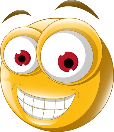 Emoticon glimlach voor u ontwerpen Stock Illustratie
