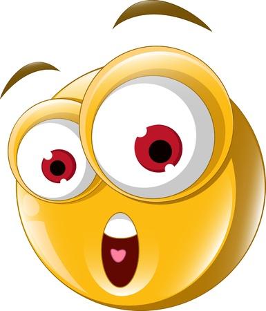 emoticone: Espressione di sorpresa per la progettazione Vettoriali