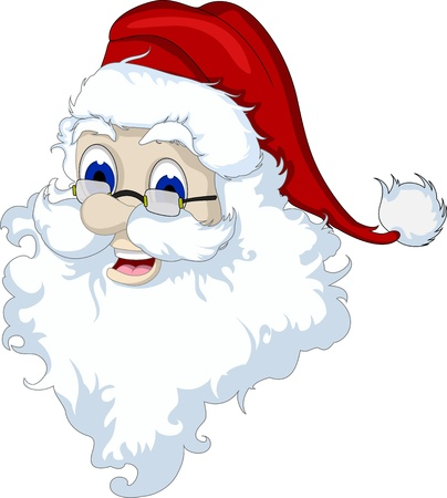 mustaches: Santa Claus head isolated for you design Illustration