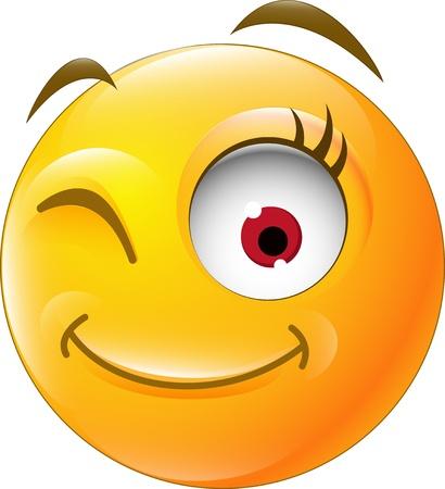 Augenzwinkern für Sie Design Standard-Bild - 21315985
