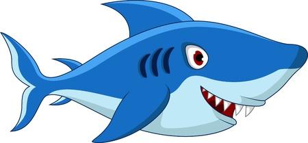 killer waves: Shark cartoon for you design