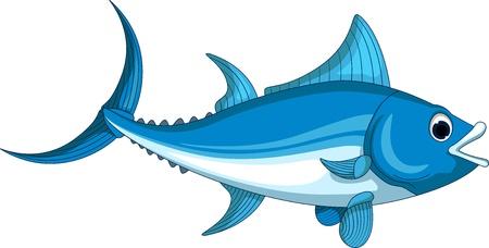 atun: dibujos animados de atún para que el diseño Vectores