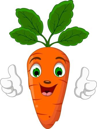 Cartoon Carrot Character giving thumbs up