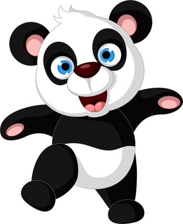 vector illustration of happy panda  Stock Vector - 21316021
