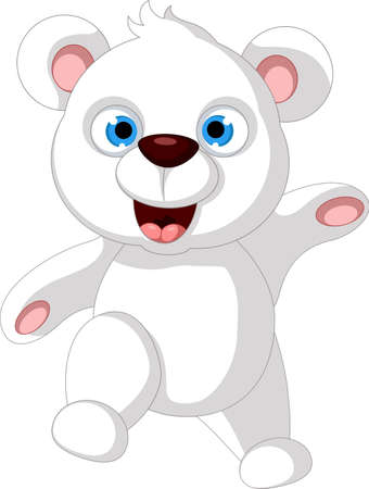 Baby Teddy Bear posing Vector