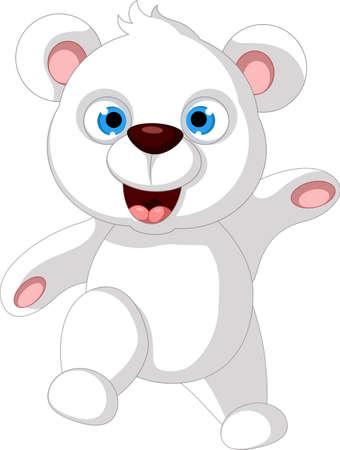 cartoon b�r: Baby-Teddyb�r posiert