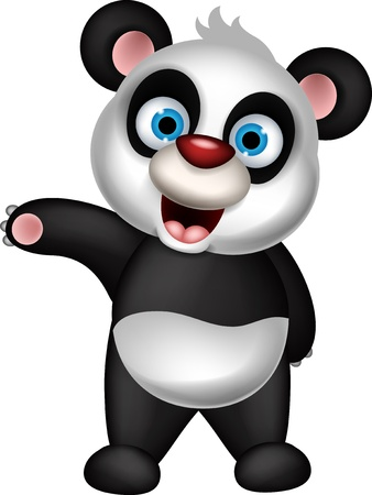 childishness: cute panda cartoon presenting