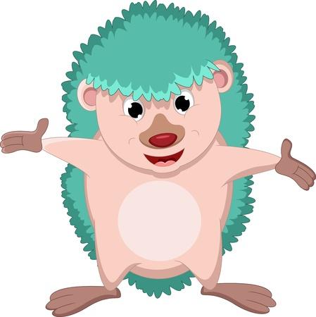 pygmy: happy hedgehog cartoon  Illustration