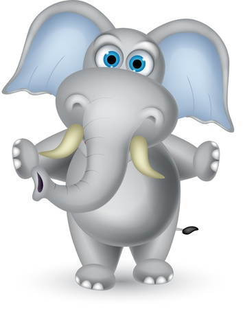 cuddly: elephant cartoon posing