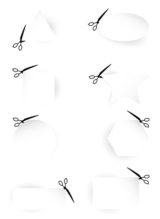 simple cross section: Scissors Template collection Illustration