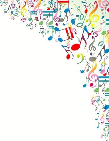 Abstracte muziek merkt achtergrond