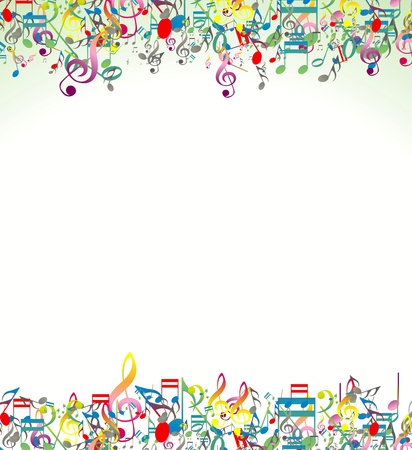 music dj: Abstract music notes background