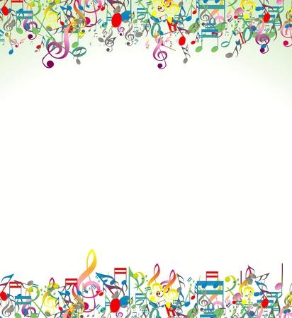 klavier: Abstrakt Noten Hintergrund Illustration