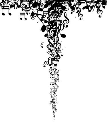 note musicali: Note di musica astratta sfondo Vettoriali