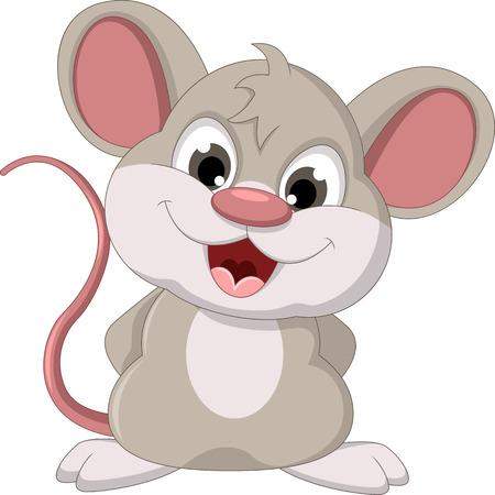 かわいいマウス漫画ポーズ