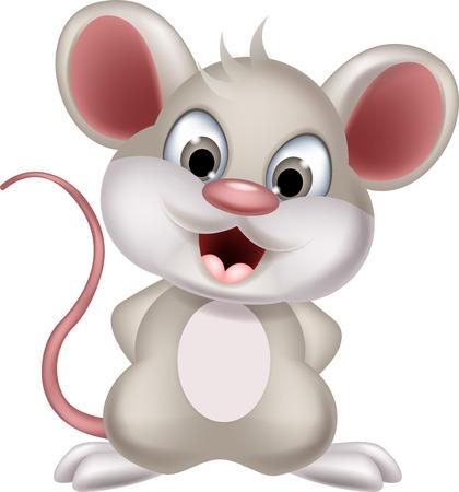 maus cartoon: niedlichen Cartoon-Maus posiert Illustration
