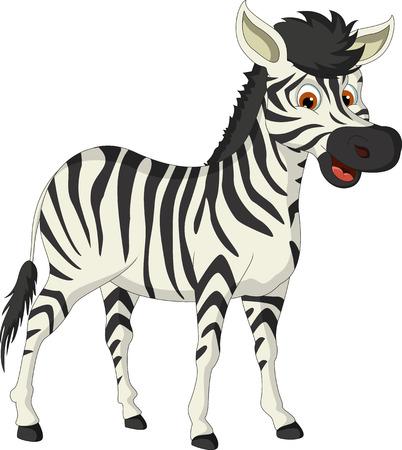 horse like: cute zebra cartoon