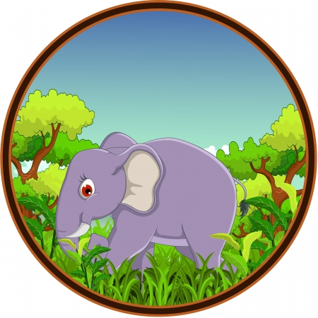 pal: elephant with forest background