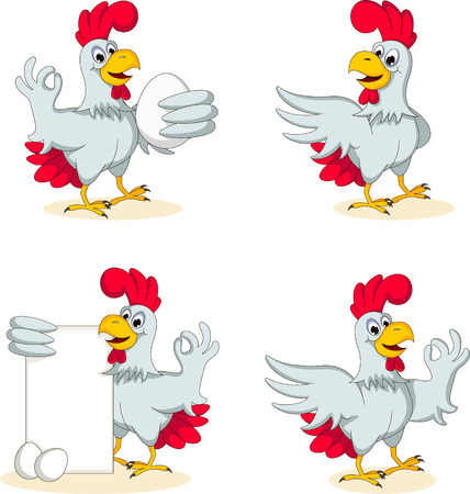 egg laying: hens cartoon collection