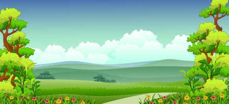 national parks: illustration of beauty nature background