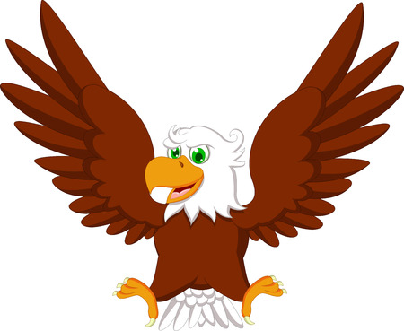 eagle feather: Cute Eagle cartoon