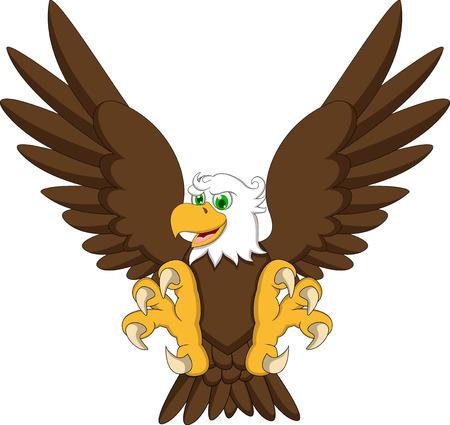 drawing cartoon: eagle cartoon flying Illustration