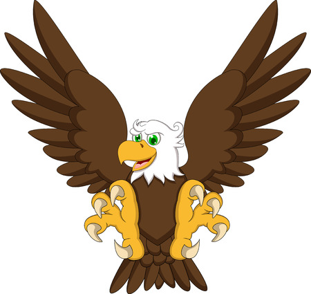 cartoon eagle: eagle cartoon flying Illustration