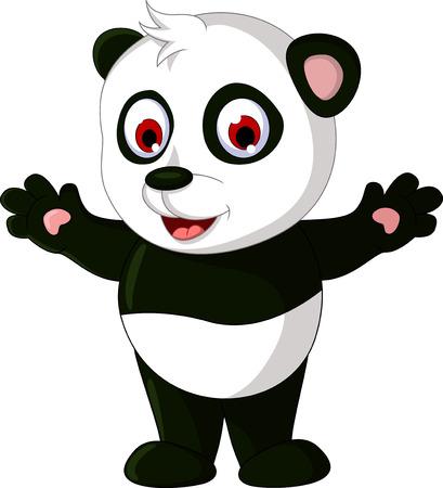leuke cartoon panda poseren