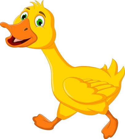 Lustige Ente Cartoon läuft Standard-Bild - 23195606