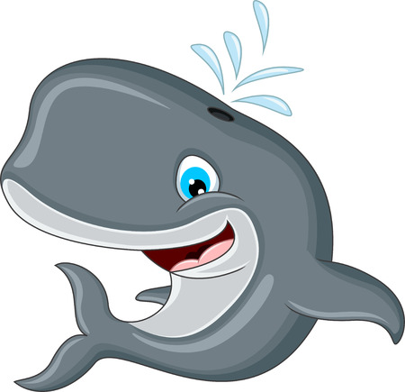 ballena azul: Ballena de la historieta Vectores