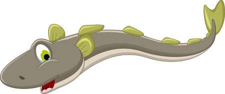illustratie van elektrische paling cartoon