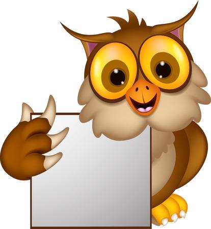 Cute owl cartoon holding blank sign royalty free cliparts vectors cute owl cartoon holding blank sign vector voltagebd Choice Image