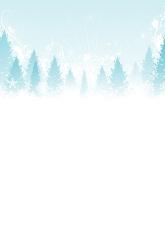 Arbres de Noël d'hiver