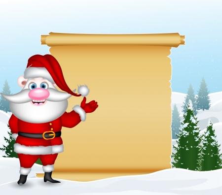 weihnachtsmann lustig: lustige Weihnachtsmann mit leeren Zeichen Illustration