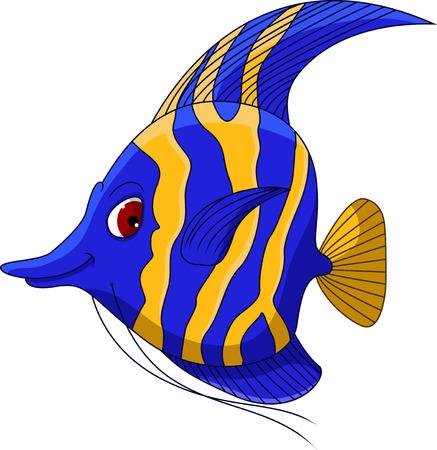 ángel de la historieta de pescado para usted diseño