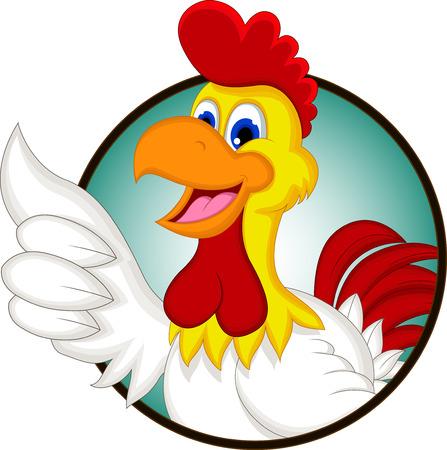 pollo caricatura: El pollo feliz de la historieta