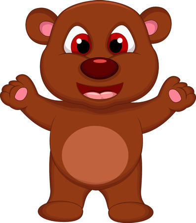 cute brown bear cartoon Stock Vector - 27596213
