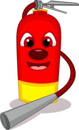 Cartoon illustration of fire extinguisher Vector