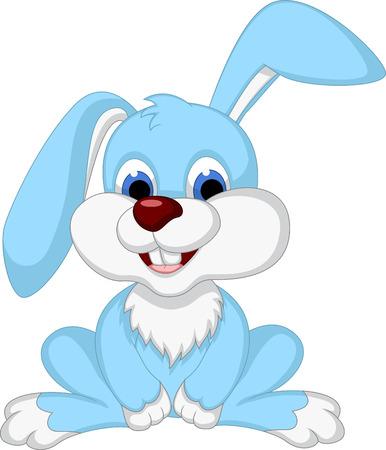 cute rabbit cartoon posing Stock Vector - 27596252