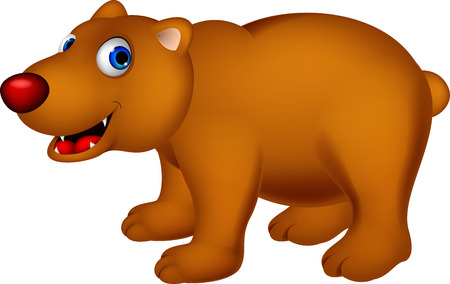 Brown bear cartoon Stock Vector - 27596228