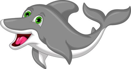 Cute dolphin cartoon Vector