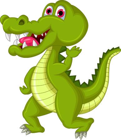 curious: Crocodile cartoon