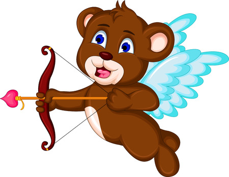 teddy bear ready to shoot his arrow Vector