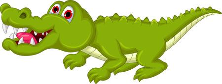 smirking: crocodile cartoon Illustration