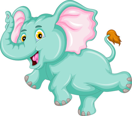 funny elephant cartoon Vector