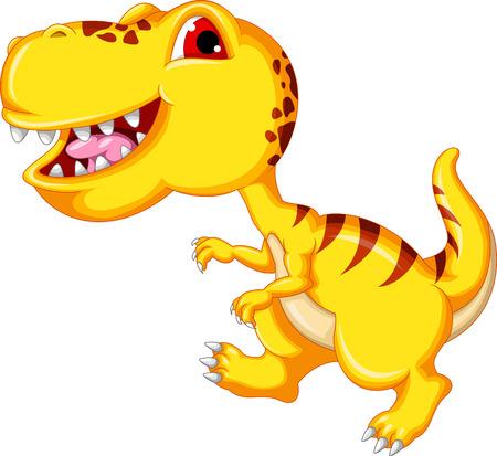 dinosaur cartoon isolated
